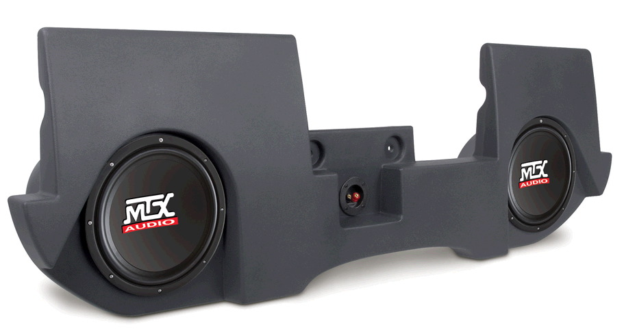 "MTX AUDIO Dual 10"" 4 Ohm 400W RMS Loaded Enclosure for Dodge Ram Quad Cab 2002-2012 (Gray) at Sears.com"