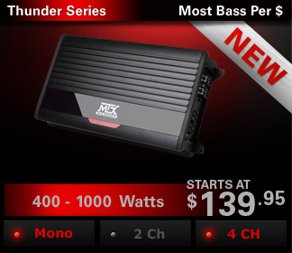 THUNDER series amplifiers offer sleek aesthetics and high power output in an extremely small package that is easy to install and enjoy.