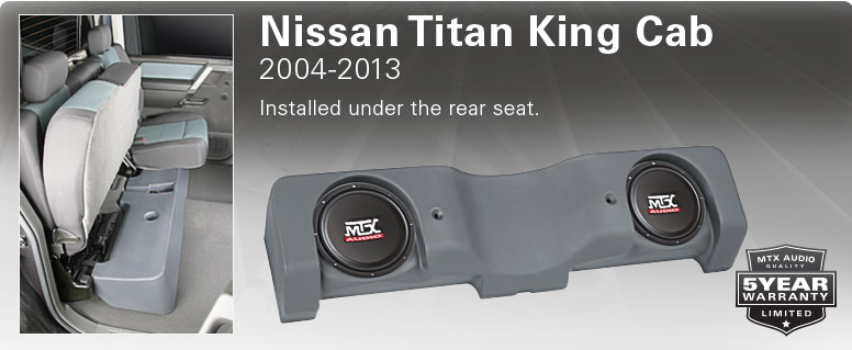 Nissan Titan King Cab Thunderform - fits under rear seat.