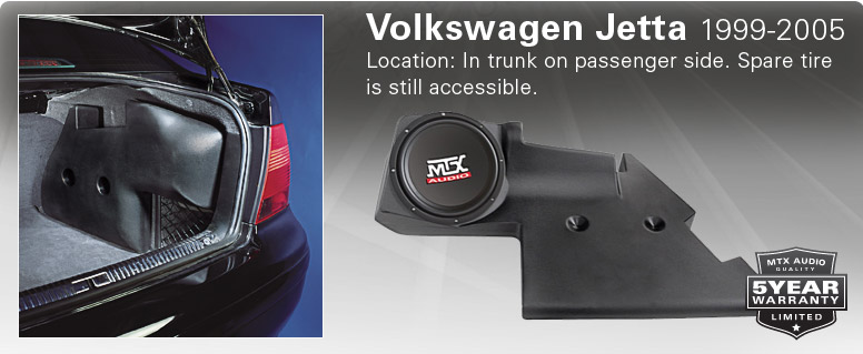 VW Jetta Thunderform - fits in passenger side trunk compartment.