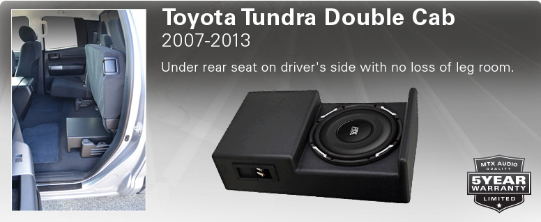 Toyotal Tundra Double Cab Thunderform - sits under rear drivers seat.