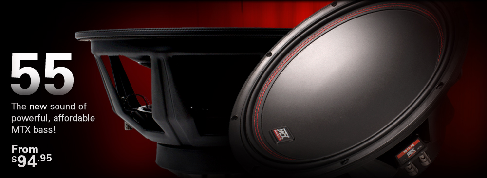 MTX 55 Series Subwoofers - the new sound of bass!
