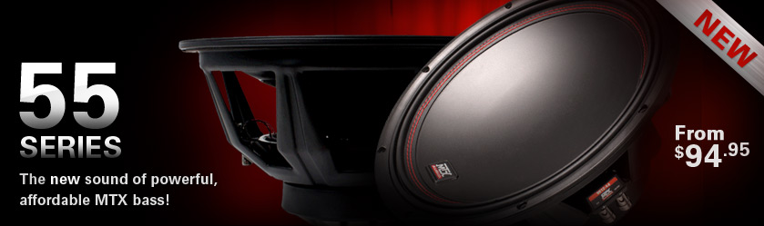 MTX 55 Series Subwoofers - the new sound of affordable bass!