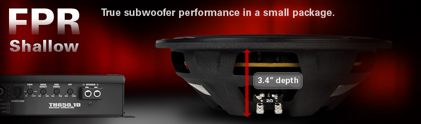 MTX FPR Shallow Subwoofers - true subwoofer performance in under 4 inches!
