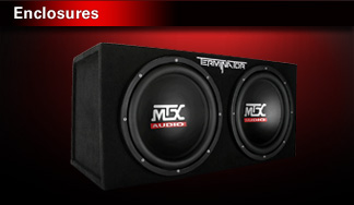 Subwoofer boxes (enclosures) - Thunderform, loaded, unloaded and amplified.|T19,0001,0007