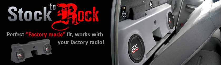MTX Thunderform Subwoofer Enclosures - Perfect Factory Fit...Stock to ROCK overnight!