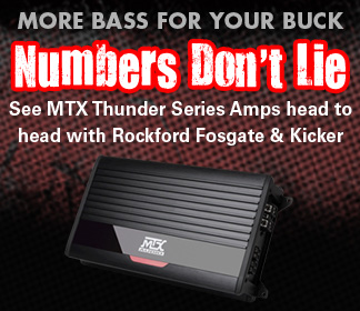 Numbers Dont Lie - see MTX THUNDER head to head with Rockford and Kicker.  MTX is more bass for your buck!