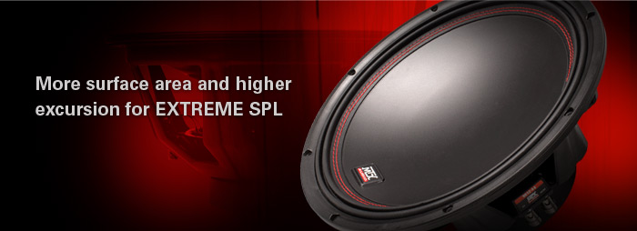 55 Series subwoofers have more surface area and higher excursion for extreme SPL!