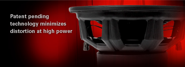 55 Series subwoofers have patent pending technology that minimizes distortion at high power.