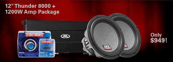 Bundle and save!  Thunder 8000 dual 12 inch + 1200W amp only $949!