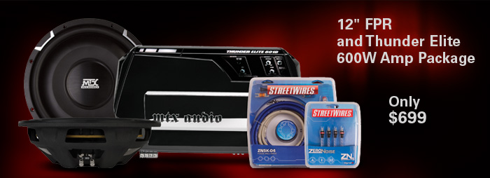 Bundle and Save!  Dual 12 inch FPR + 600W Amp Package - only $699!