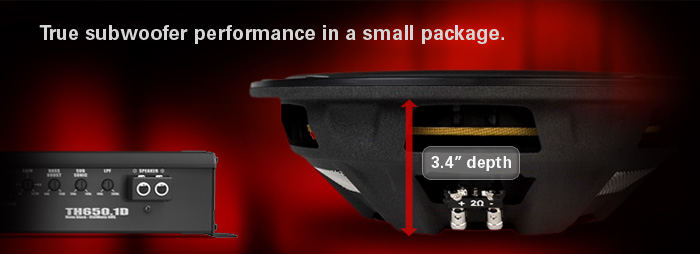 MTX FPR Shallow Subwoofers have true subwoofer performance in a small package!
