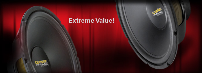 Coustic Subwoofers by MTX are the extreme value bass option.