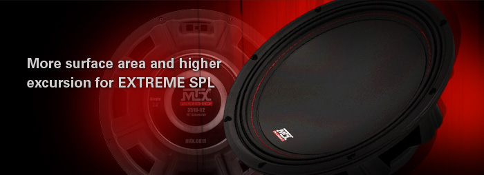 MTX 35 Series Subwoofers have more surface area and higher SPL than the competition!
