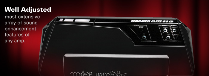 THUNDER ELITE car amplifiers have the most customizable audio adjustments available.