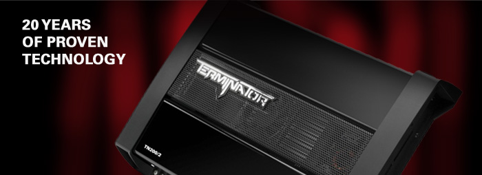 Terminator car amplifiers are built on 20 years of reliable, proven MTX technologies.
