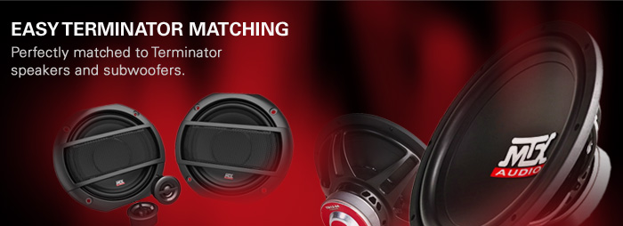Terminator car amplifiers are perfectly matched to Terminator subwoofers and speakers.