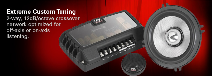 Thunder Axe separate and component speakers include crossovers for extreme custom tuning.