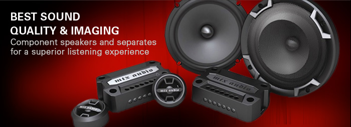 Thunder Axe separate and component speakers are the finest sound quality and imaging available.