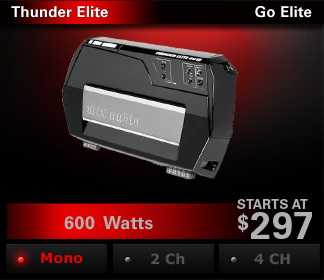 Thunder Elite amplifiers are the ultimate expression of power and style.
