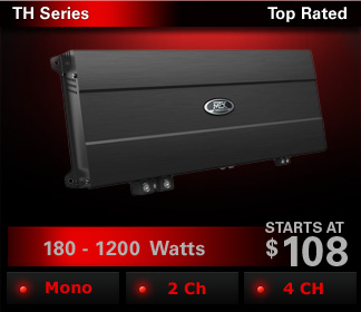 TH Series amplifiers are feature rich and deliver high power using proven MTX technologies.