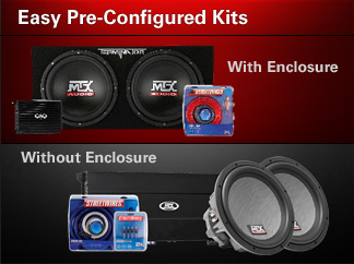 Preconfigured do it yourself bass kits without enclosures.