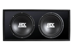 High performing vented, loaded enclosure that delivers heavy bass at a great price.