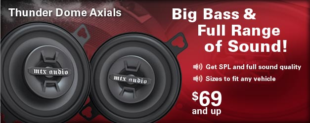 Get Big Bass and a full range of quality sound - from $69 each.