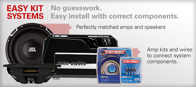 Easy install system kits include everything you need to upgrade your factory system!
