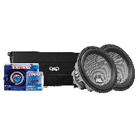 "TH Series 1200W Amp & Two 12"" Dual 2-Ohm Thunder 8000 Subwoofers"