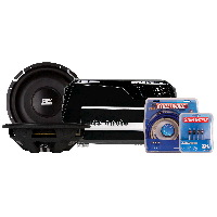 "Thunder Elite 600W Amp & Two 12"" FPR Shallow Subwoofers"