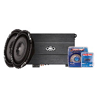 "TH Series 650W Amp & Two 12"" FPR Shallow 4-Ohm Subwoofers"