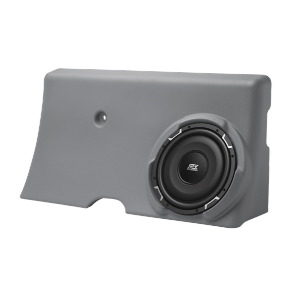 "Single 10"" 300W RMS Amplified Enclosure for Ford F-250 Crew Cab 2000-2006"