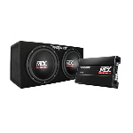 "MTX Mobile Dual 12"" 1200W Max Power Loaded Enclosure and Amplifier Package"