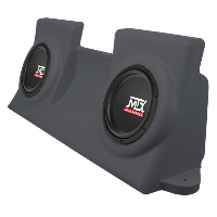 "Dual 10"" 4&#937; 200W RMS Loaded Enclosure for Ford F-150 Regular Cab 1997-2003"