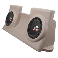 "Dual 10"" 400W RMS Amplified Enclosure for Ford F-150 Regular Cab 1997-2003"
