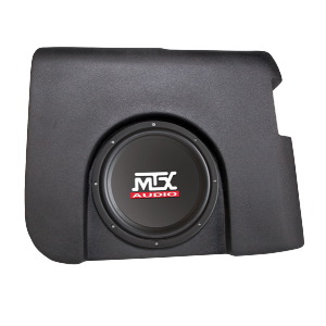 "Single 10"" 4Ω 200W RMS Loaded Enclosure for Chevrolet Silverado 1500/2500 Crew Cab 2007-2013"