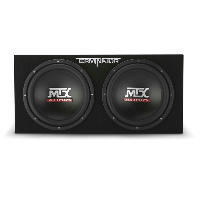 "Dual 12"" 2Ω Sealed 800W Peak Subwoofer Enclosure"