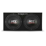 "MTX Mobile Dual 12"" 2Ω Sealed 800W Peak Subwoofer Enclosure"
