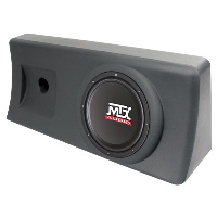 "Single 10"" 200W RMS Amplified Enclosure for Chevrolet S-10 Regular Cab 1995-2003"