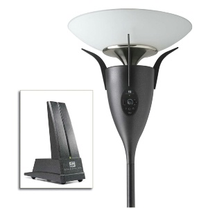 Wireless Speaker Floor Lamp and Wireless Transmitter Combo