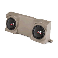 "Dual 12"" 4Ω 400W RMS Loaded Enclosure for Ford F-150 Regular Cab 2004-2013"