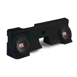 "Dual 10"" 400W RMS Amplified Enclosure for Ford F-250 Regular Cab 2000-2006"