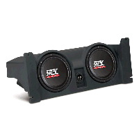 "Dual 10"" 400W RMS Amplified Enclosure for Jeep Wrangler TJ 1997-2006"