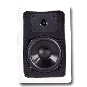 "Single 5.25"" 2-Way 8&#937; 45W RMS In-Wall Loudspeakers (PAIR)"