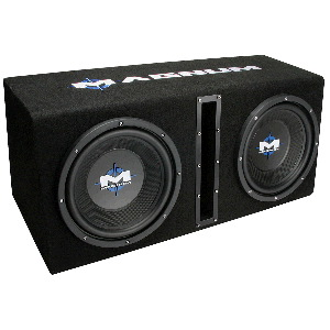 "Dual 10""  Vented Enclosure and Amplifier Combo"