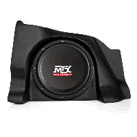 "Single 10"" 4&#937; 200W RMS Loaded Enclosure for Chevrolet Silverado 1500/2500 Extra Cab 2007-2013"