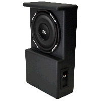 "Single 10"" 300W RMS Amplified Enclosure for Toyota Tundra Double Cab 2007-2013"