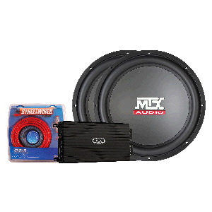 "TD Series 1000W Amp & Two 15"" Roadthunder 4-Ohm Subwoofers"