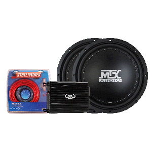 "TD Series 500W Amp & Two 12"" 4-Ohm Roadthunder Subwoofers"